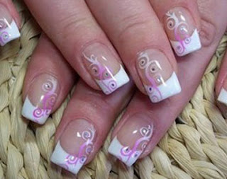 new girls fashion trend easy and colorful nails style for