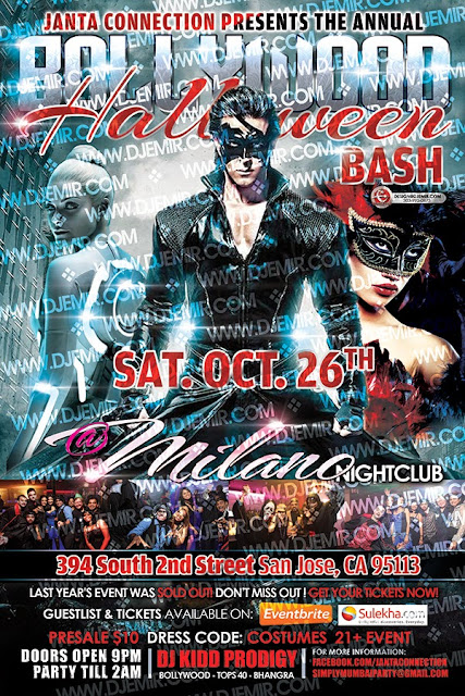 Bollywood Halloween Bash Flyer Design