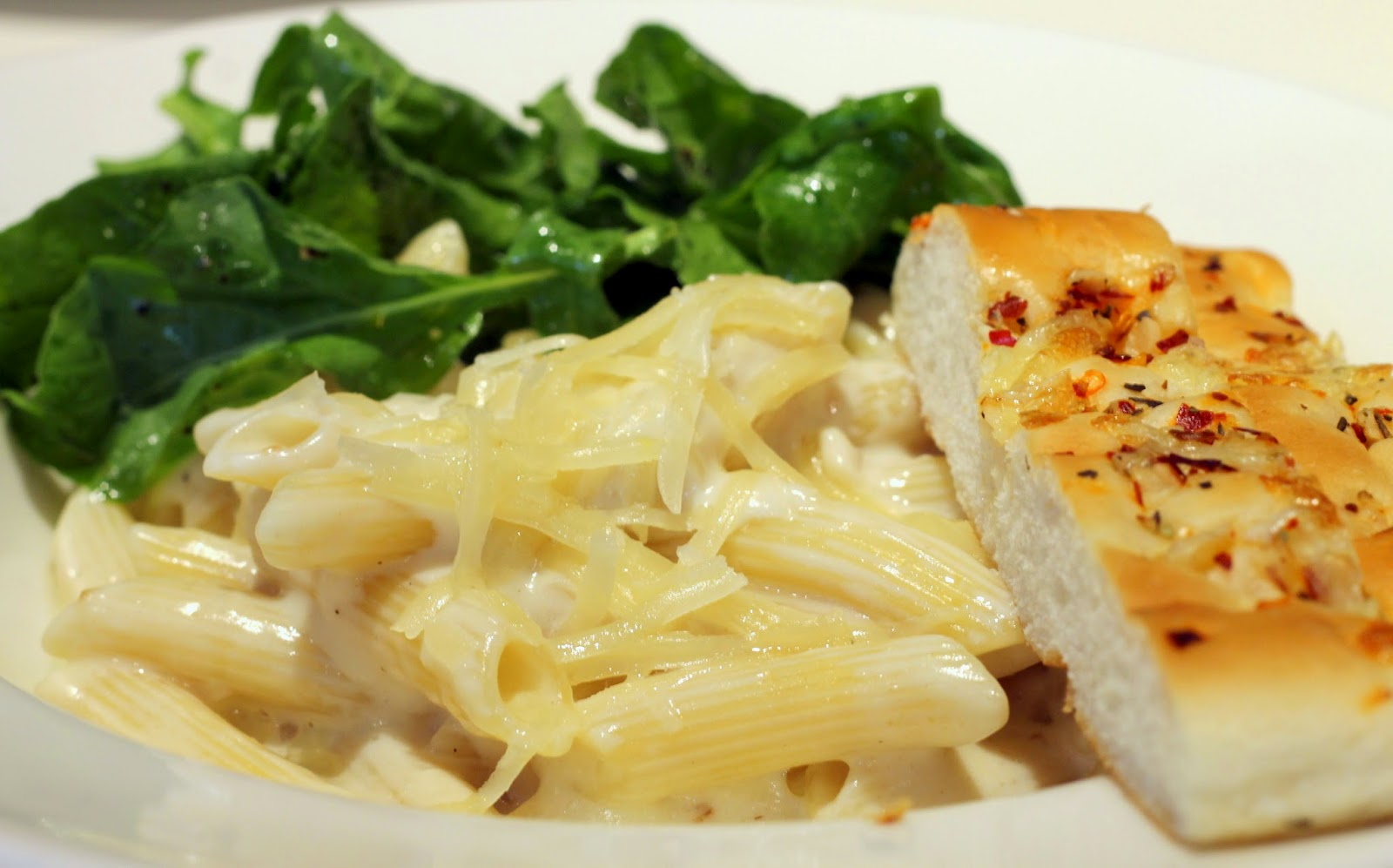 """Simple and soulful """"Mascarpone Penne"""" with tossed rocket leaves at ..."""