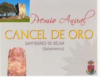 cartel anunciador premio en Santibañez