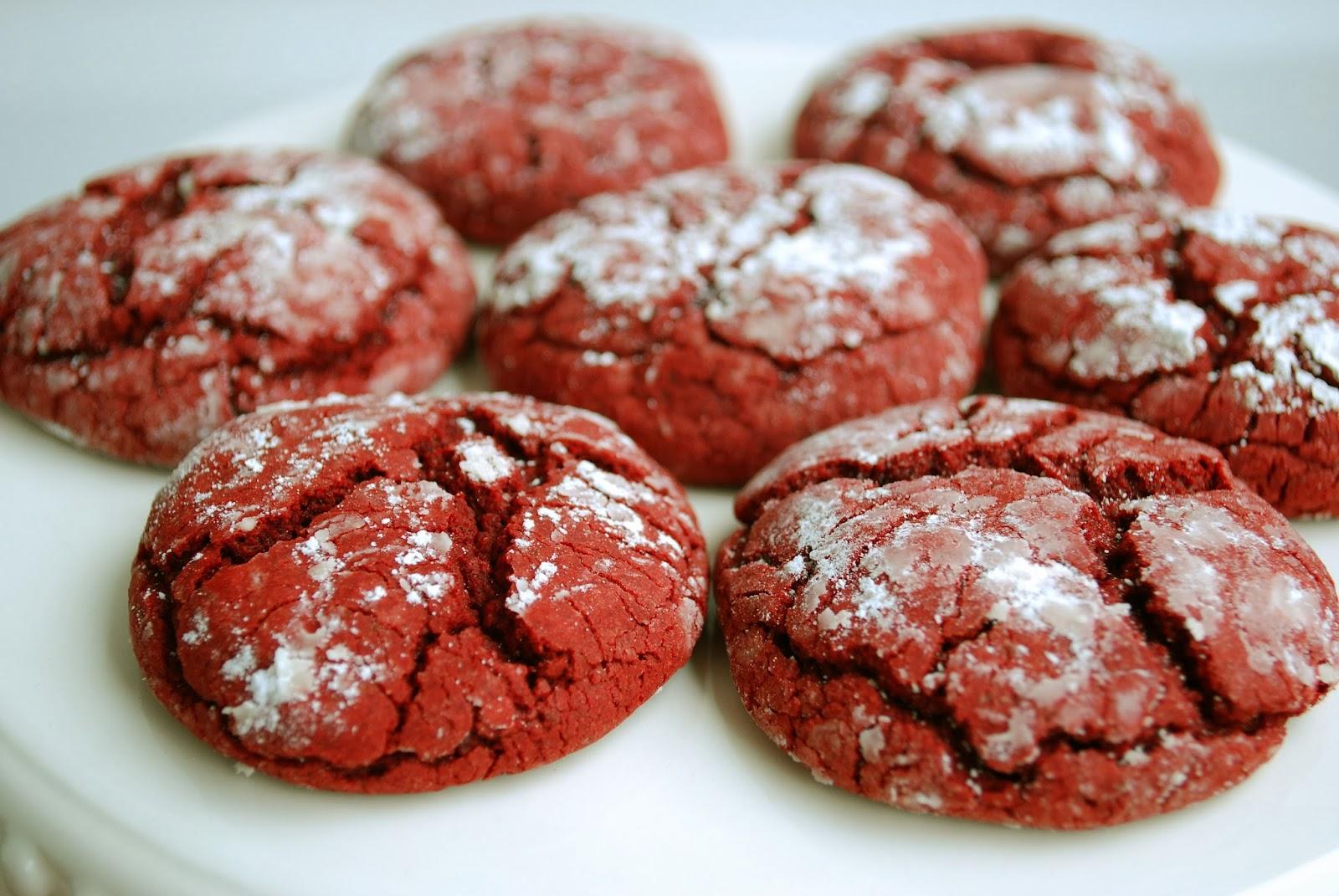 red velvet crinkle cookies recipe from the duncan hines red velvet ...