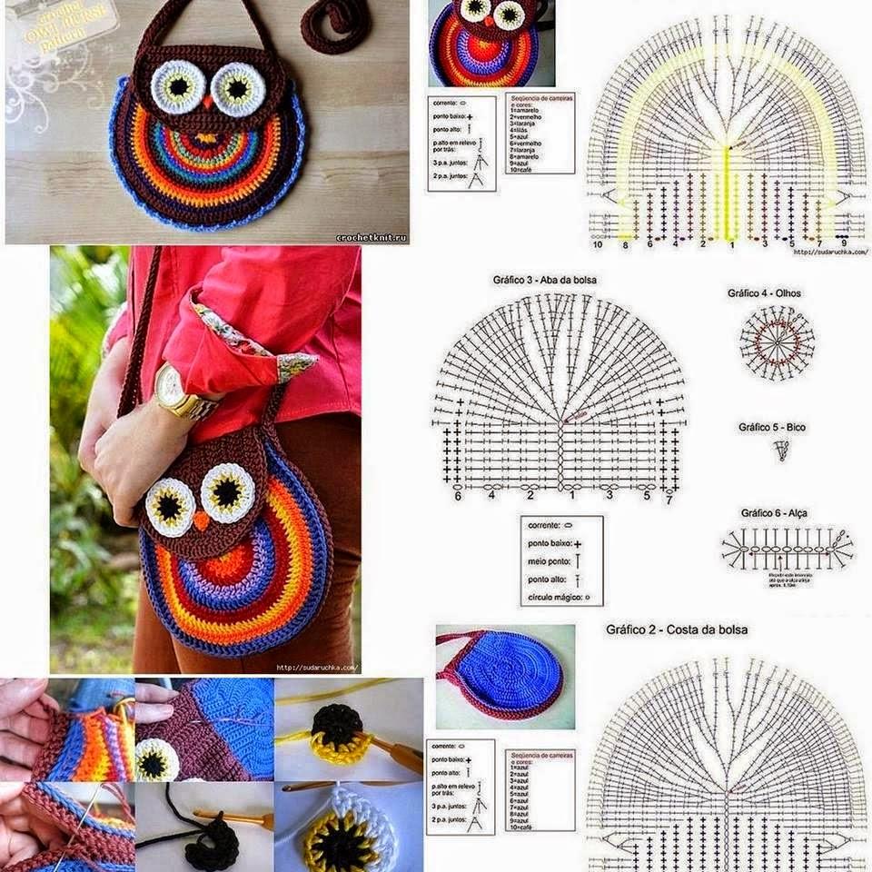 Cartera con diseño de búho al crochet | Todo crochet