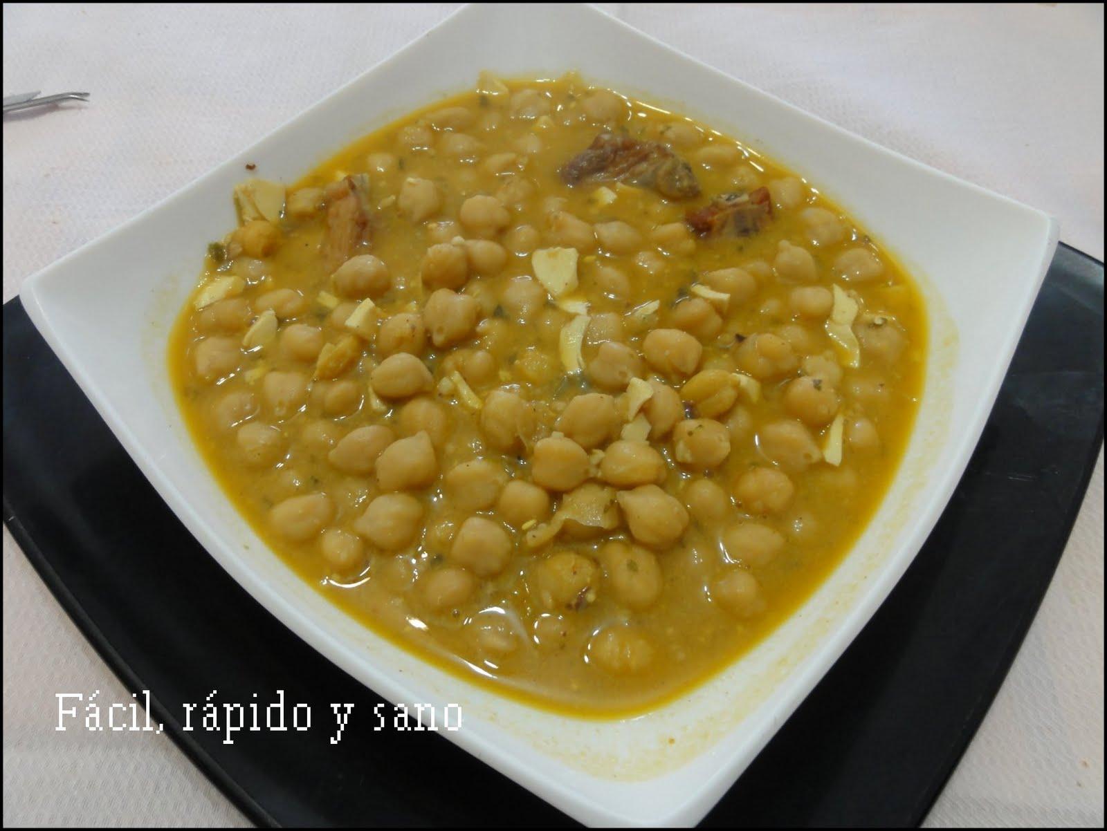 F cil r pido y sano cocina para gente sin tiempo - Preparacion de garbanzos cocidos ...