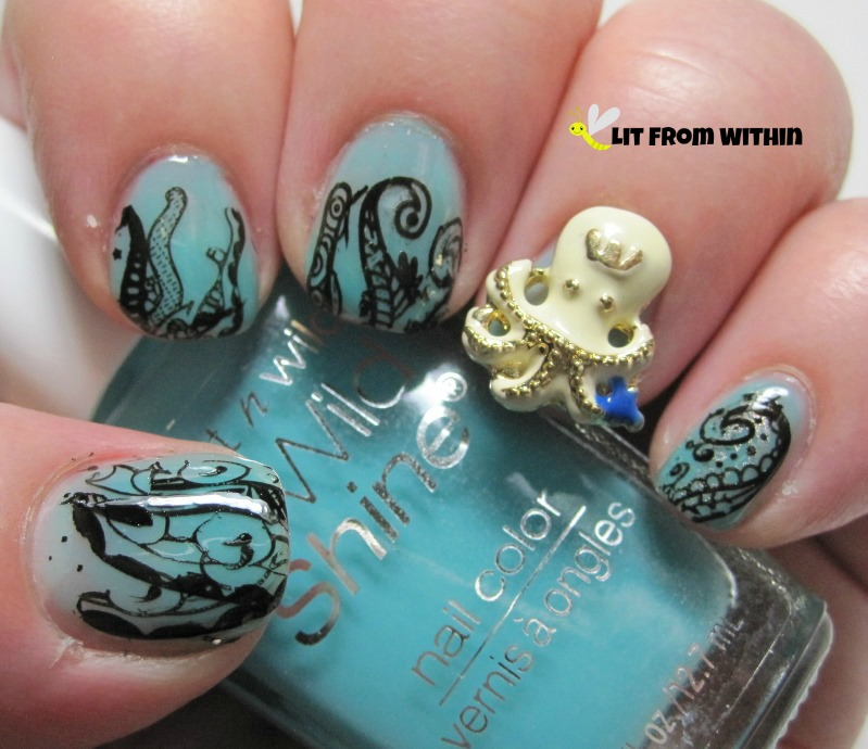Lit from within pirate nail art challenge sea creatures i just love the princess octopus nail charm too she has a tiara bonus points if you get the big bang theory reference prinsesfo Image collections