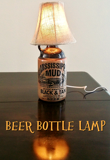Beer Bottle Lamp- Mississippi Mud Lamp