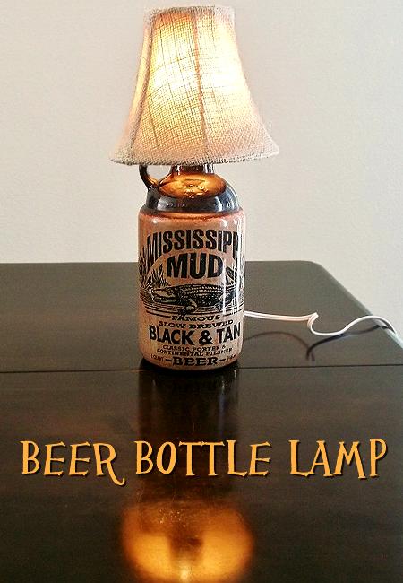 Beer Bottle Lamp  Mississippi Mud Lamp ...