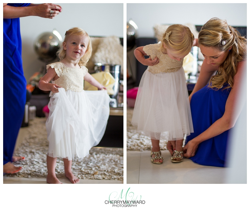 Flower girl, beautiful, pretty, putting shoes on, cute, Koh Samui Wedding