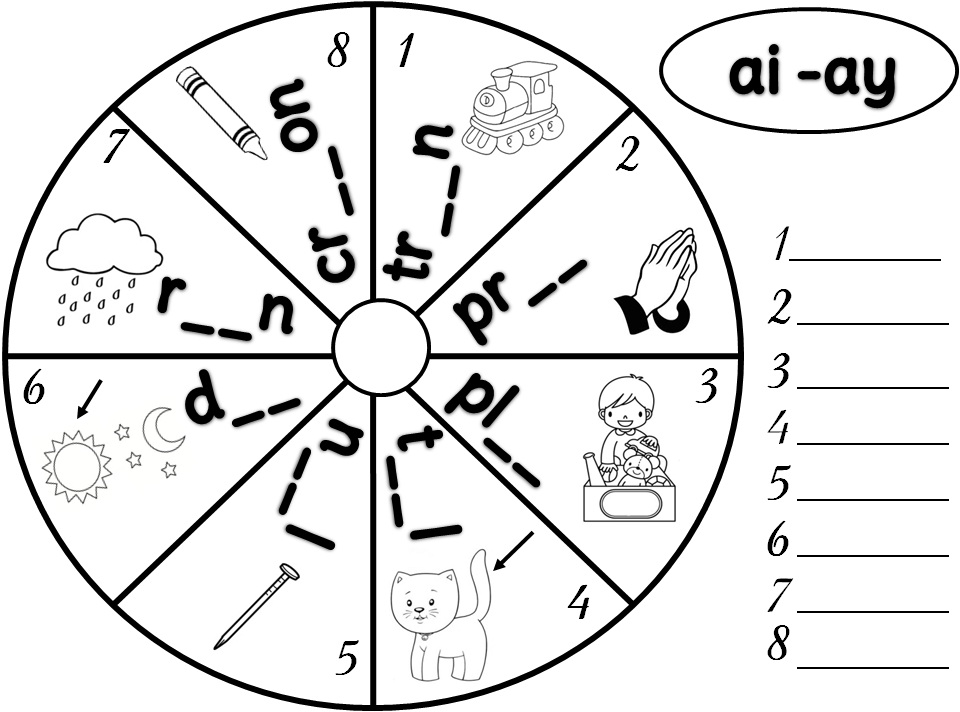 Enjoy Teaching English PHONICS LONG A ayaiae – Ai and Ay Worksheets
