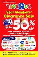 ToysRUs Star Member's Clearance Sale 2012