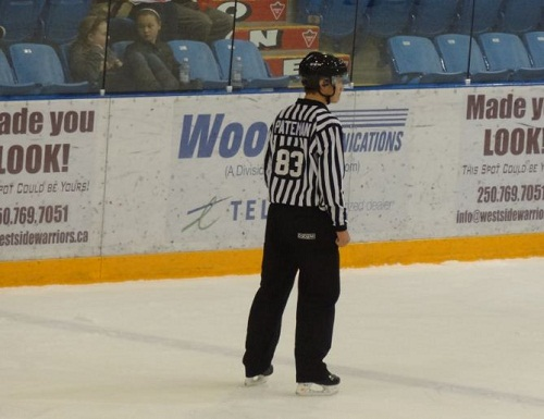 BCJHL referee hockey