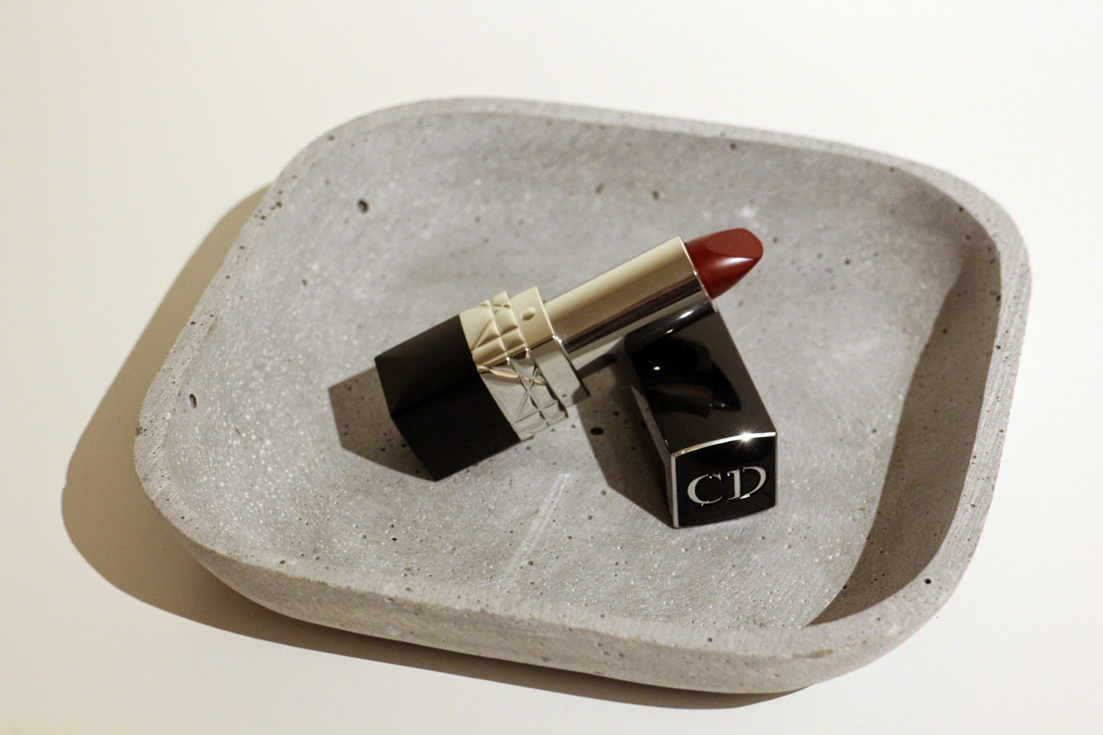 Christian Dior dark red lipstick