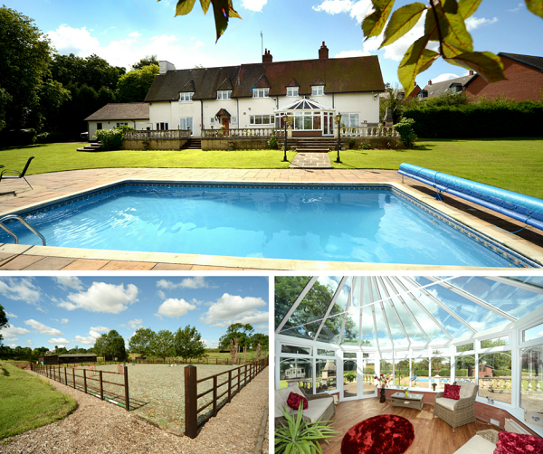 Andrew granger co blog home of the week manor cottage desford for Outdoor swimming pool leicester