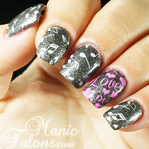 love and music nail art