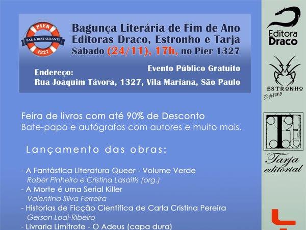 Bagunça Literária de Fim de Ano das Editoras: Draco, Estronho e Tarja em São Paulo