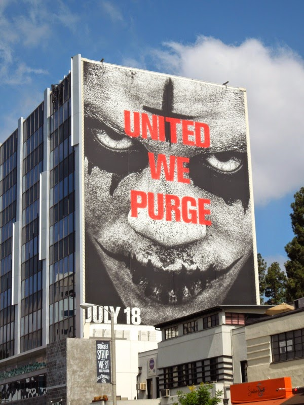 Giant United We Purge billboard Sunset Strip