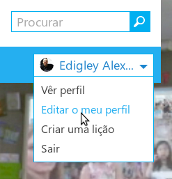 Editando o meu perfil