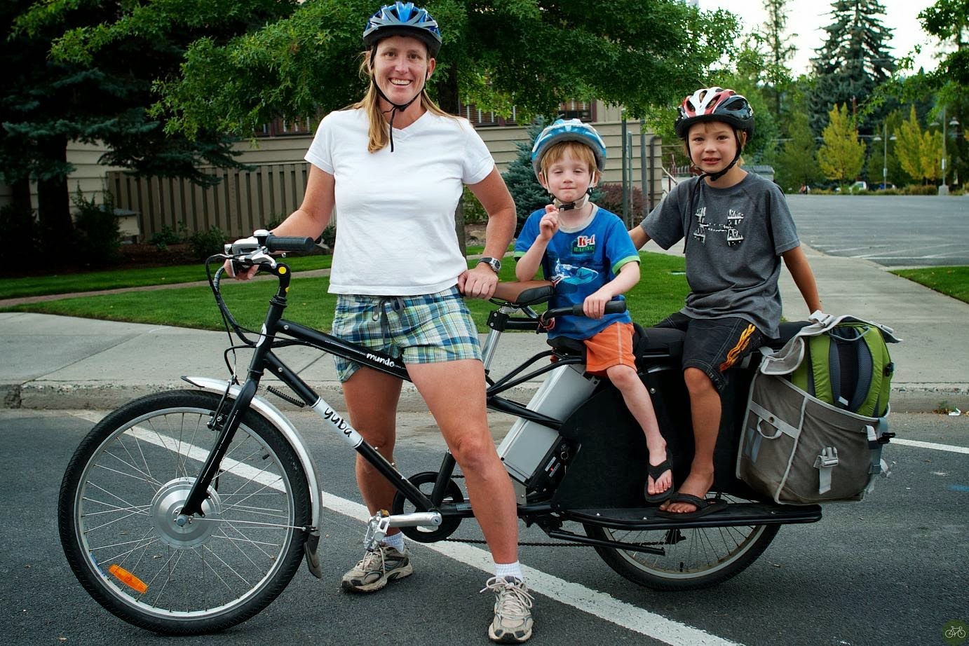Cargo bikes are very common means to transport goods or babies!