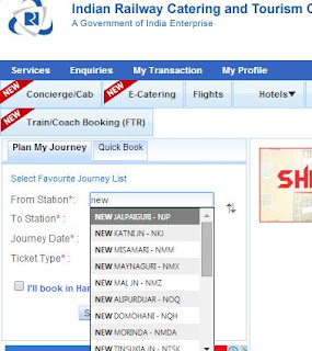 Station Name and Station Code Indian Railways IRCTC