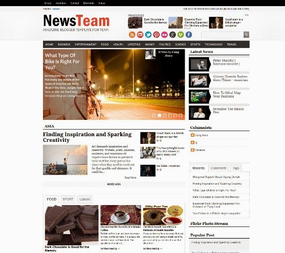 Newsteam Blogger Template