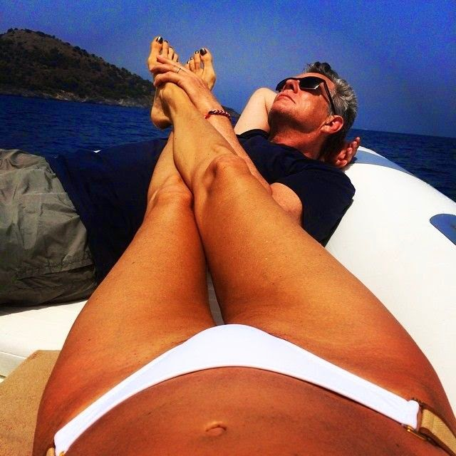 ‭So how does the Music Mogul, David Foster spend the break when, for once, he's not in the star of the music composer? ‭Vacationing with his lovely wife in Turkey, apparently. ‭The photos reportedly were taken this week on Thursday, July 17, 2014. There are more shots here (with the standard view warning that go along with bikinis).