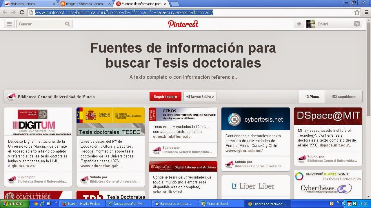 ¿Buscas información sobre tesis doctorales?