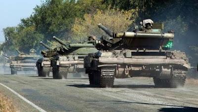 Начался отвод танков от линии разграничения