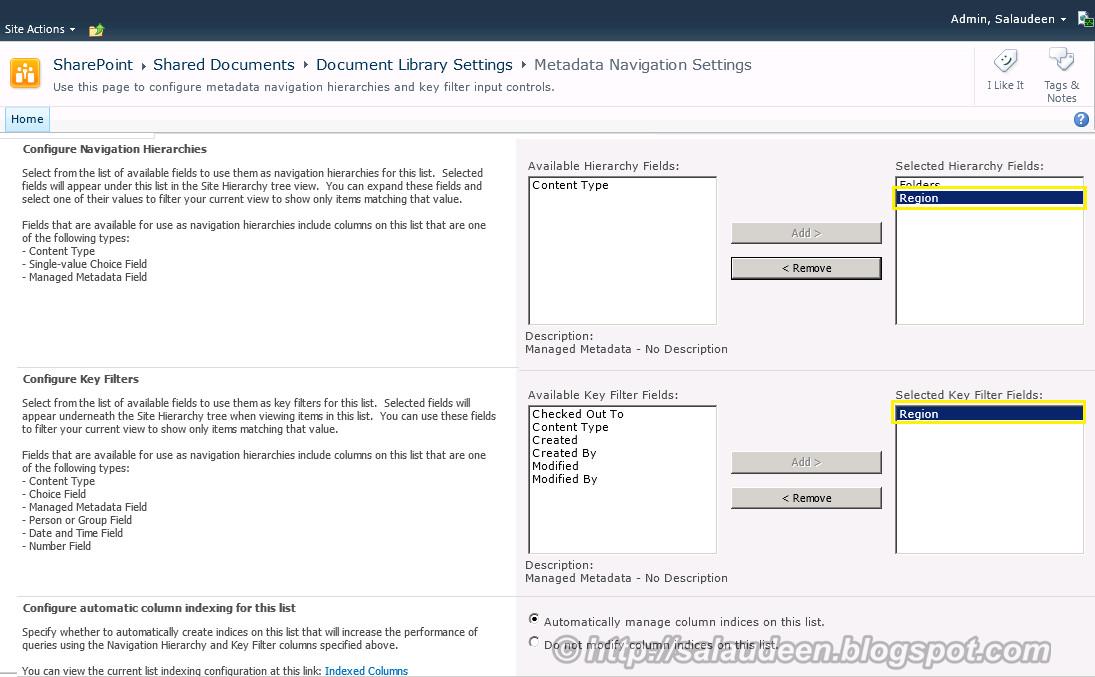 sharepoint 2010 managed metadata navigation