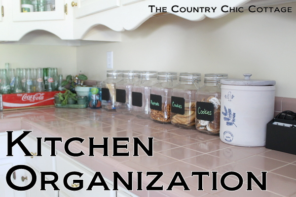 Kitchen Counter Organization Ideas kitchen organization ideas - the country chic cottage