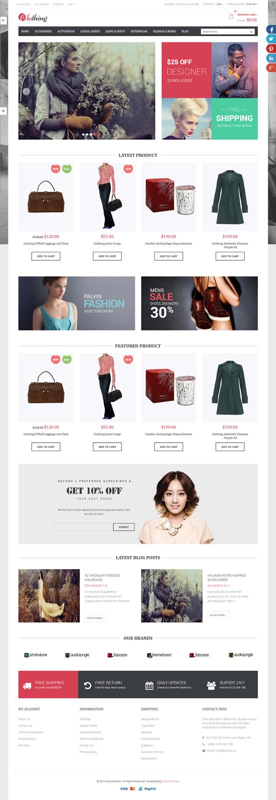 Free responsive ecommerce theme
