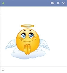 Angel symbol for Facebook