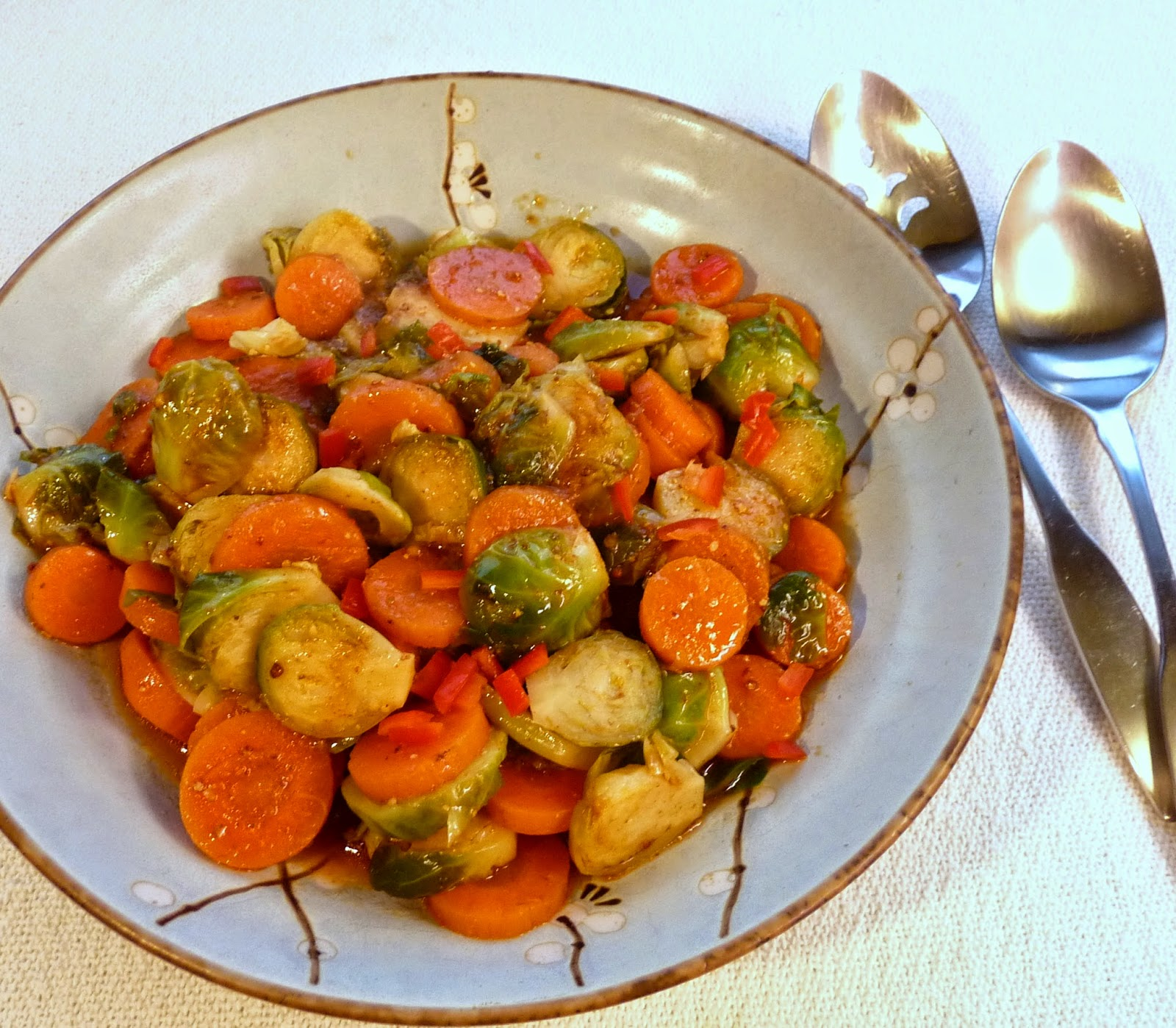 Brussels Sprouts & Carrot Coin Salad