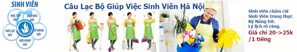 Giúp việc nhà  theo giờ tại Hà Nội