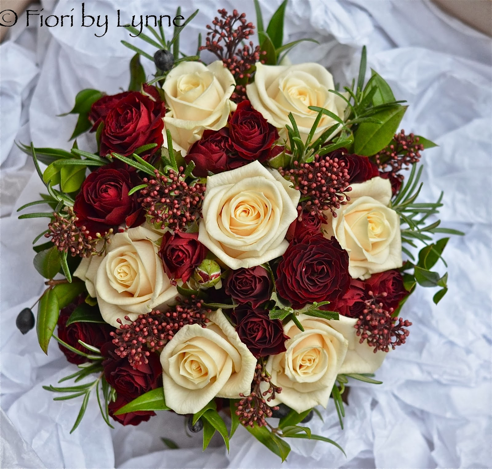 Wedding Flowers Blog: Tracey and Ed\'s Rustic Winter Wedding Flowers ...