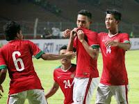 Tim  Garuda Muda Cukur Timor Leste U-22 Dengan Skor Telak 5-0