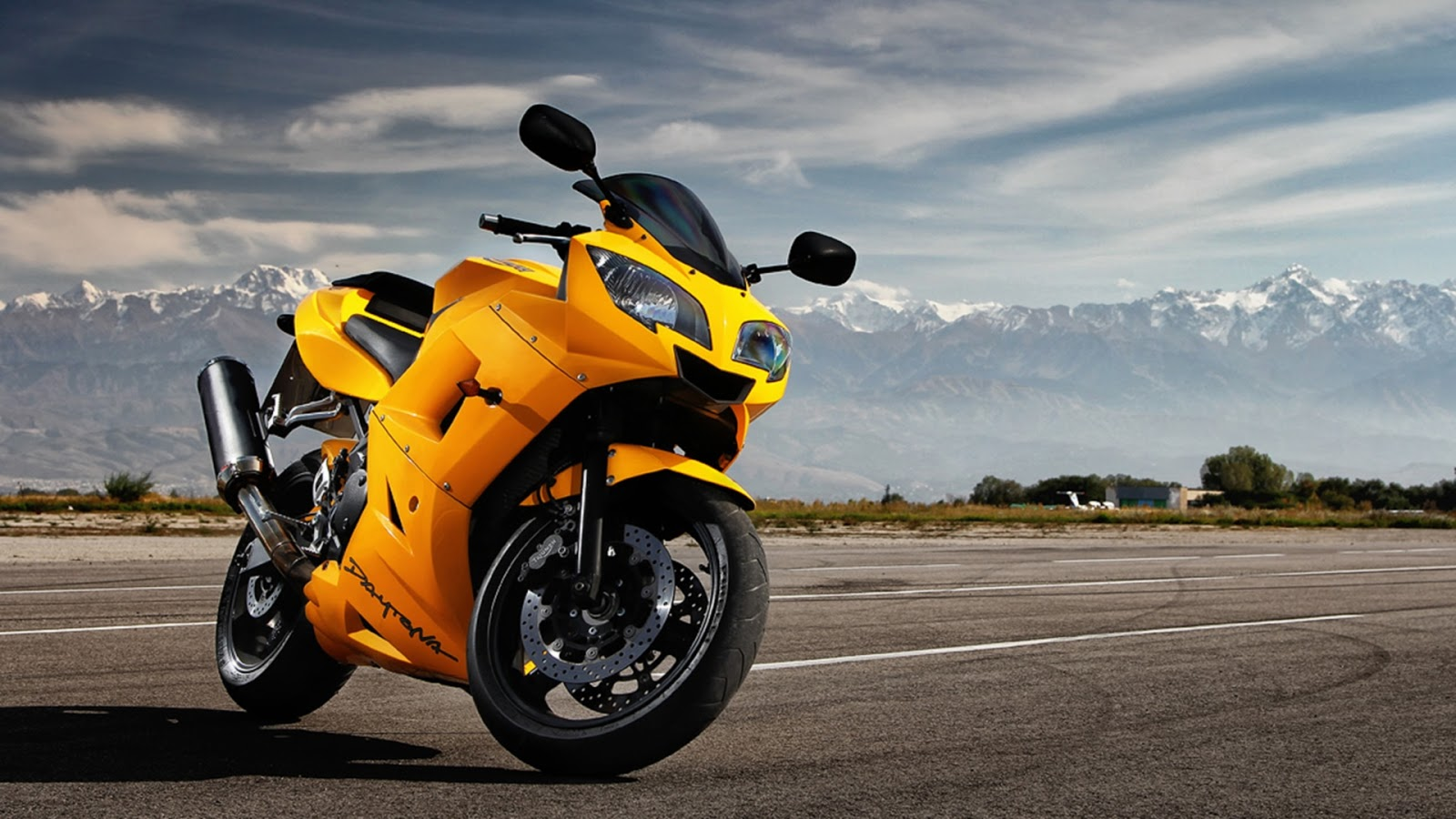 Yellow Daytona Motorcycle
