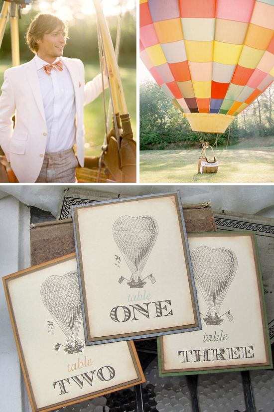 Hot Air Balloon Inspiration Board