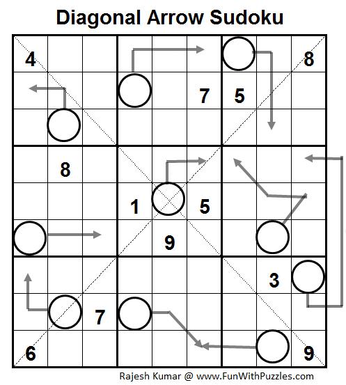 Diagonal Arrow Sudoku (Daily Sudoku League #61)