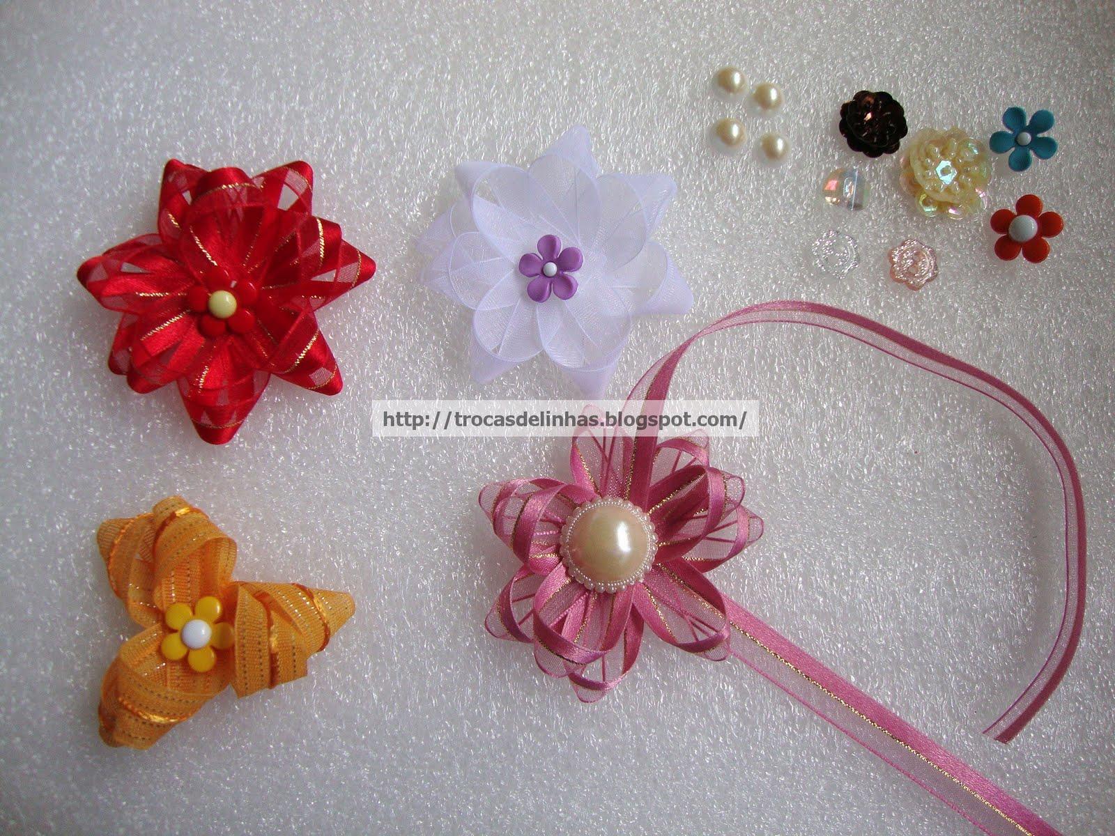 Fotos De Flores Feitas De Fuxico - Linha & Agulha flores de tecido, flor de fuxico, orinuno