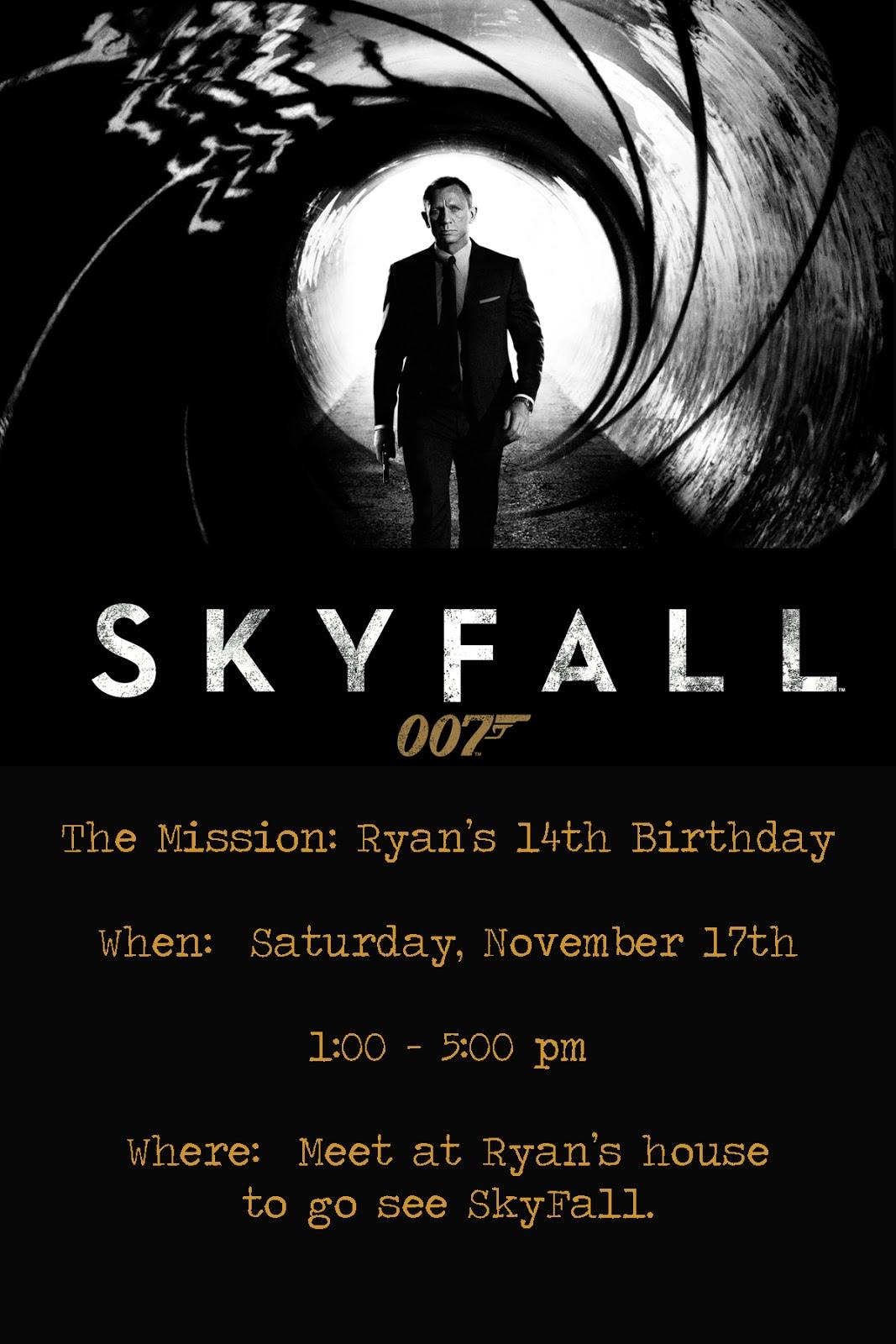 James Bond Invitation – James Bond Party Invites