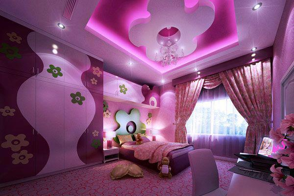 Construindo minha casa clean quarto dos sonhos de meninas for Little girl room color ideas