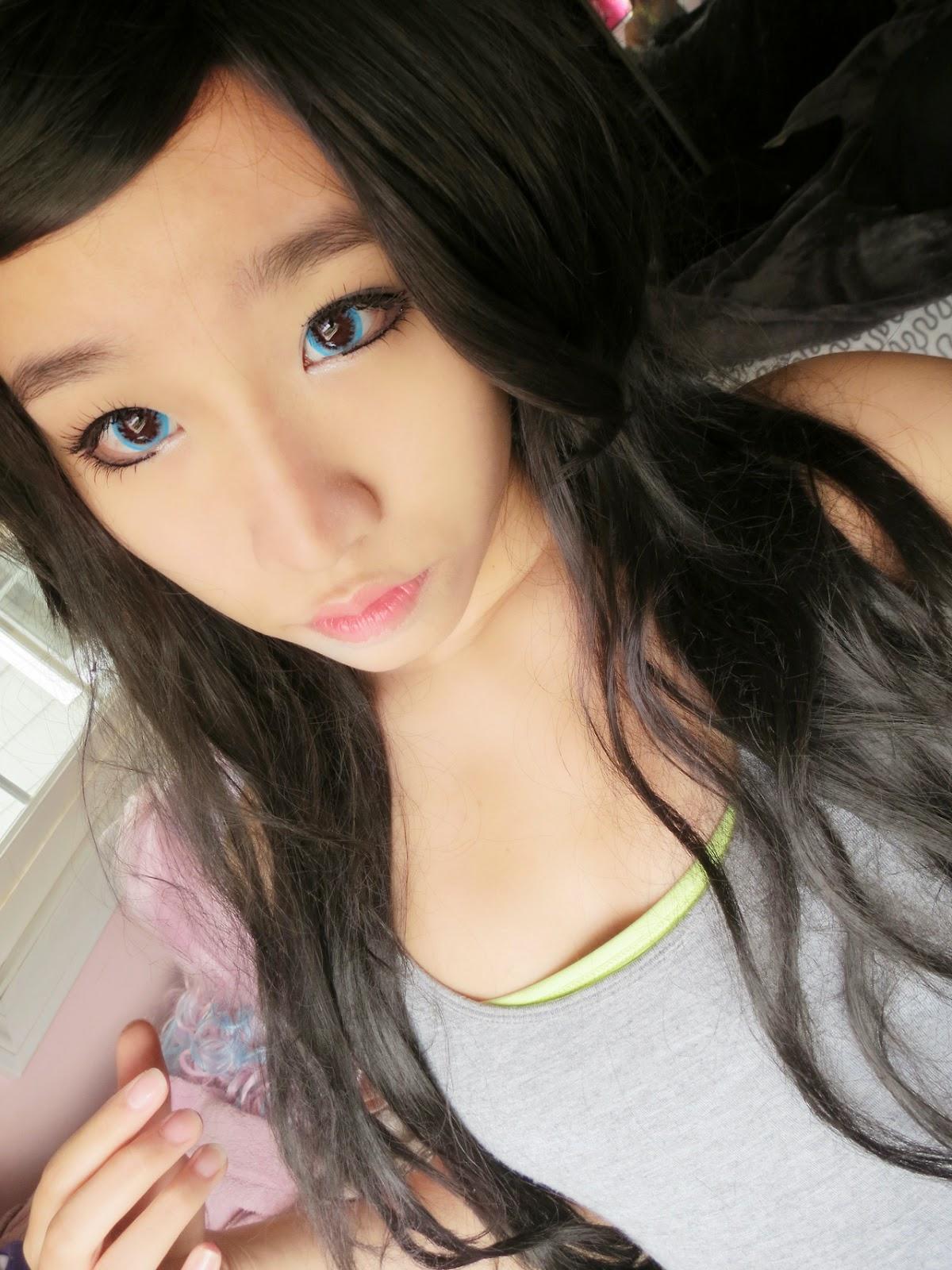 Vibrant Blue Eyes: I.Fairy Macaron Blue Lenses