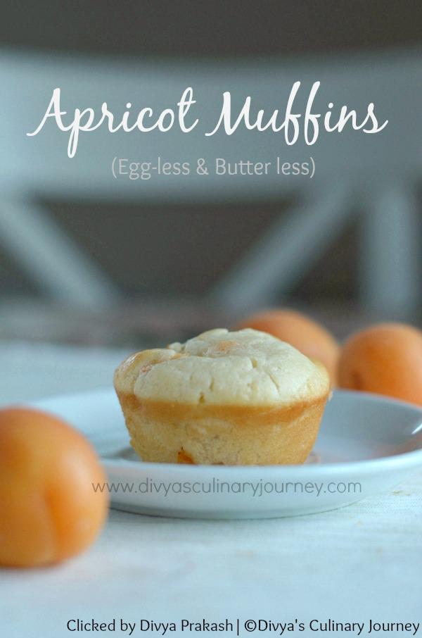 apricot muffins, eggless apricot muffins recipe