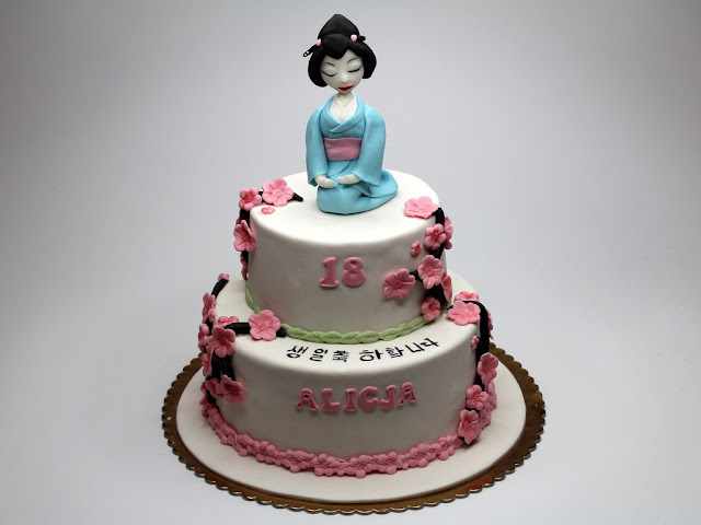 Geisha 18th Birthday Cake London