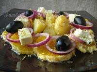 Гръцка салата с портокали