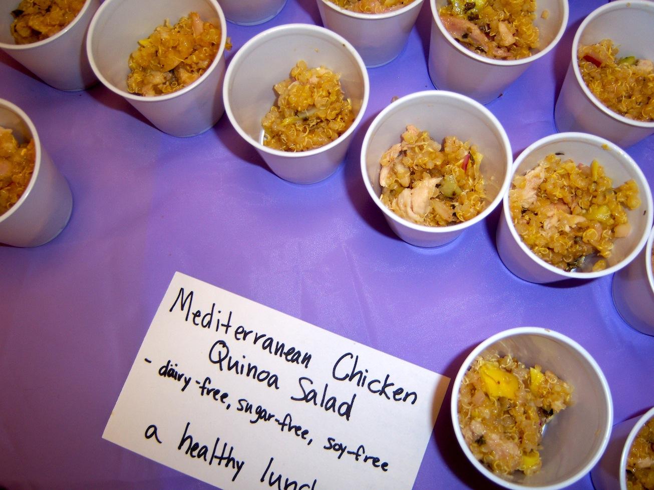 Healing cuisine mediterranean chicken quinoa salad for Cuisine quinoa