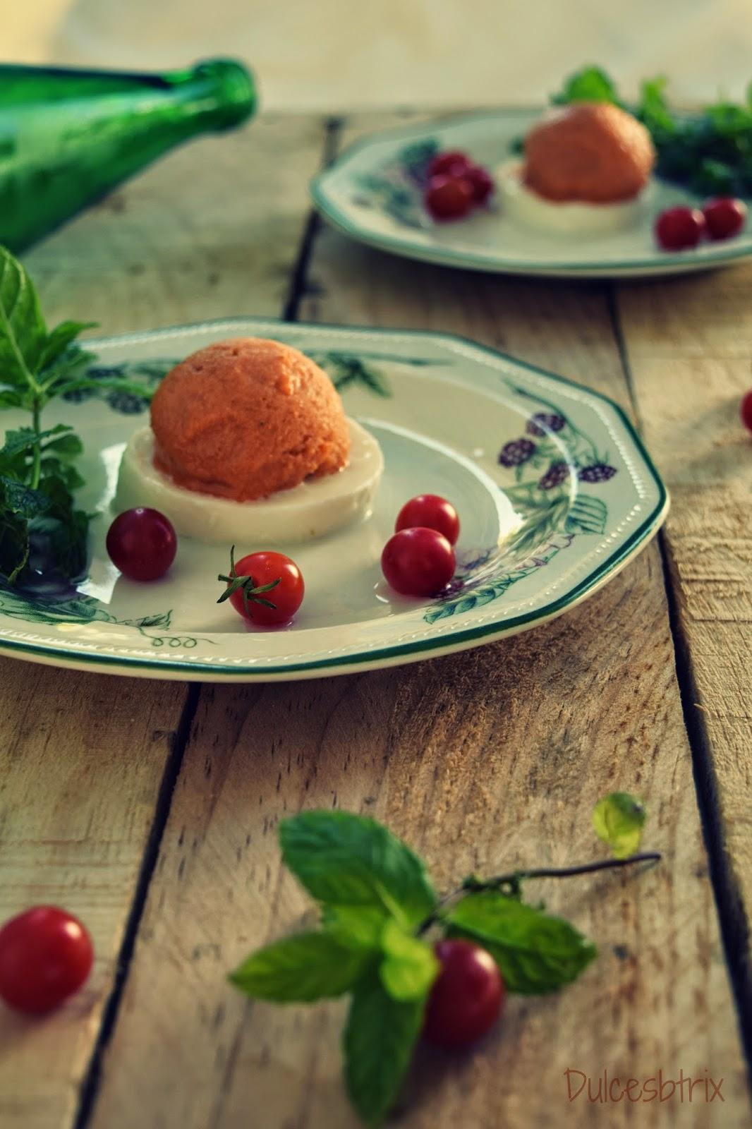 Helado de tomate-Dulcesbtrix