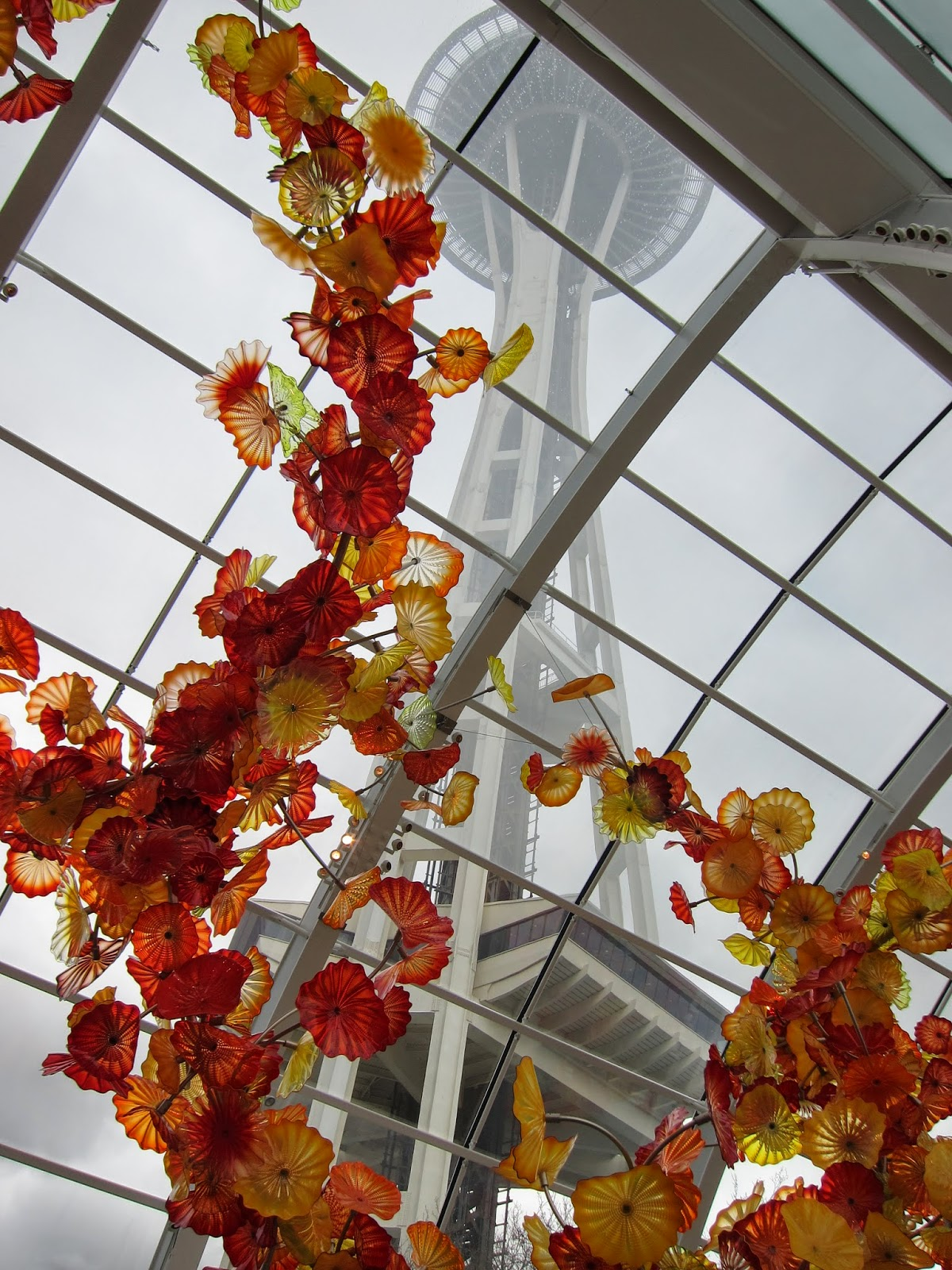 Space Needle from the Chihuly Museum