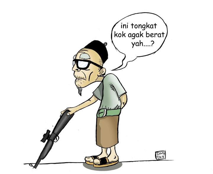 cartoonation: Tongkat barunya kakek