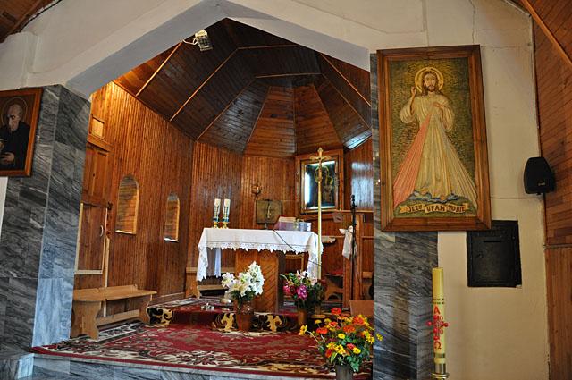 Wąsosz Stara Wieś, wnętrze kaplicy.