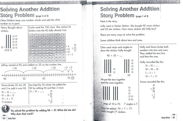 And here we go may 2013 dont know how common core affects math well take a look at some math work from a common core aligned book fandeluxe Choice Image
